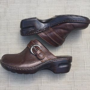 boc Leather Clogs with side Buckle